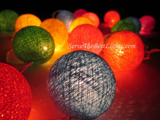 Mixed Color Cotton Ball Lights 005